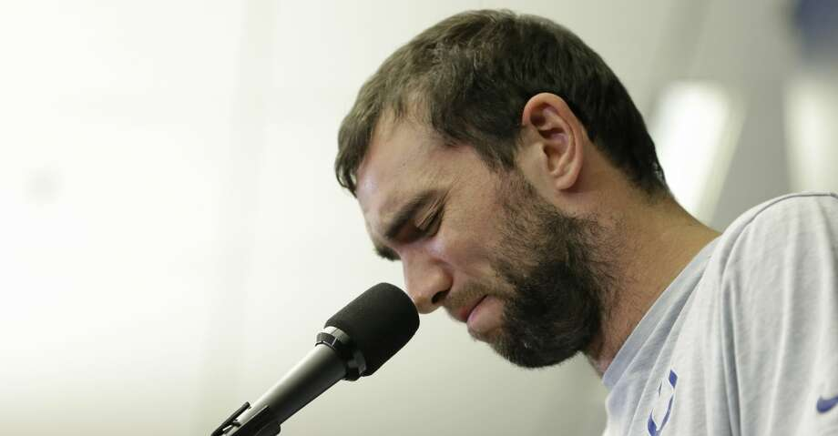 Indianapolis Colts quarterback Andrew Luck speaks during a news conference following the team's NFL preseason football game against the Chicago Bears, Saturday, Aug. 24, 2019, in Indianapolis. The oft-injured star is retiring at age 29. (AP Photo/AJ Mast) Photo: AJ Mast/Associated Press