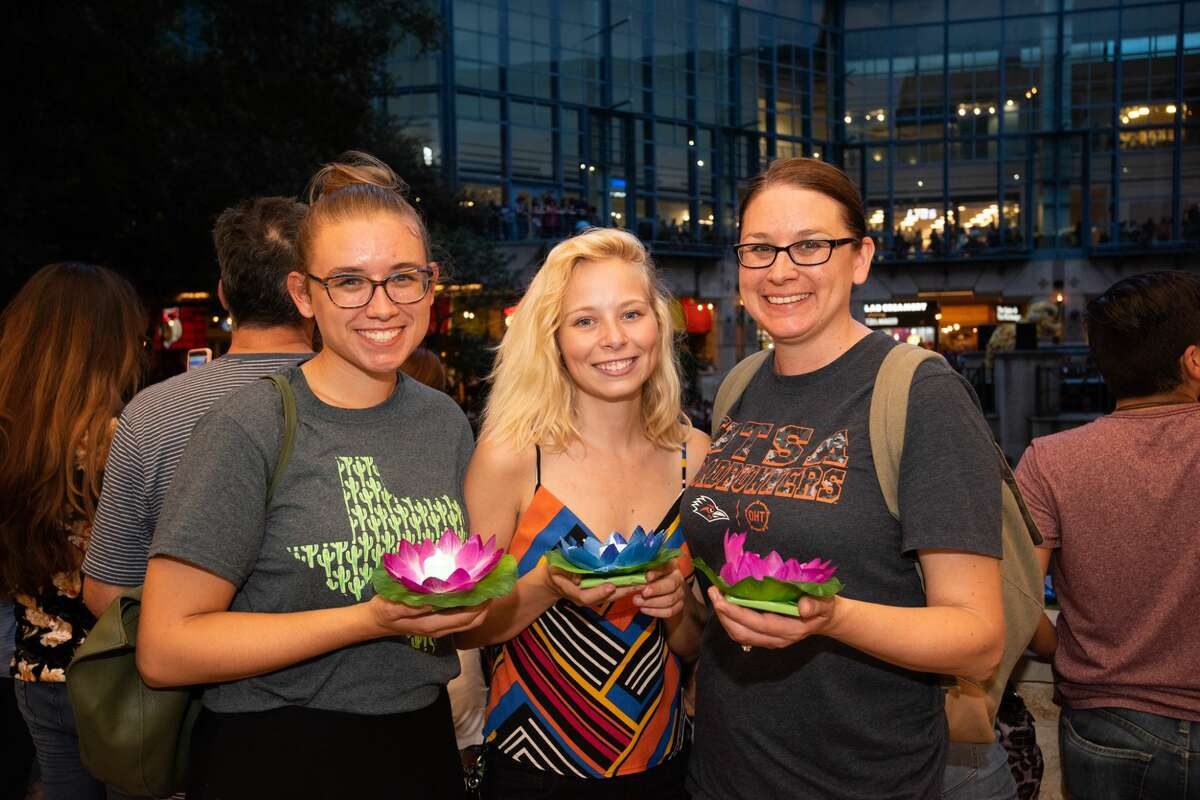 Hundreds gathered Saturday, Aug. 25, 2019, for the San Antonio River Walk Association's lamp release.