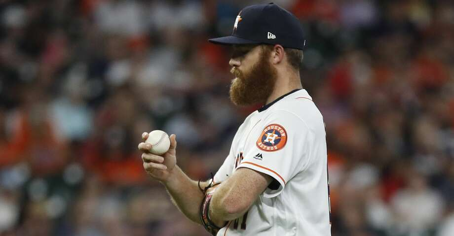 PHOTOS: Astros game-by-game Houston Astros relief pitcher Cy Sneed (67) reacts after giving up a home run to Pittsburgh Pirates Starling Marte (6) during the fifth inning of an MLB baseball game at Minute Maid Park, Thursday, June 27, 2019, in Houston. Browse through the photos to see how the Astros have fared in each game this season. Photo: Karen Warren/Staff Photographer