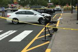 Injuries reported in car crash at Stop & Shop in Ansonia.