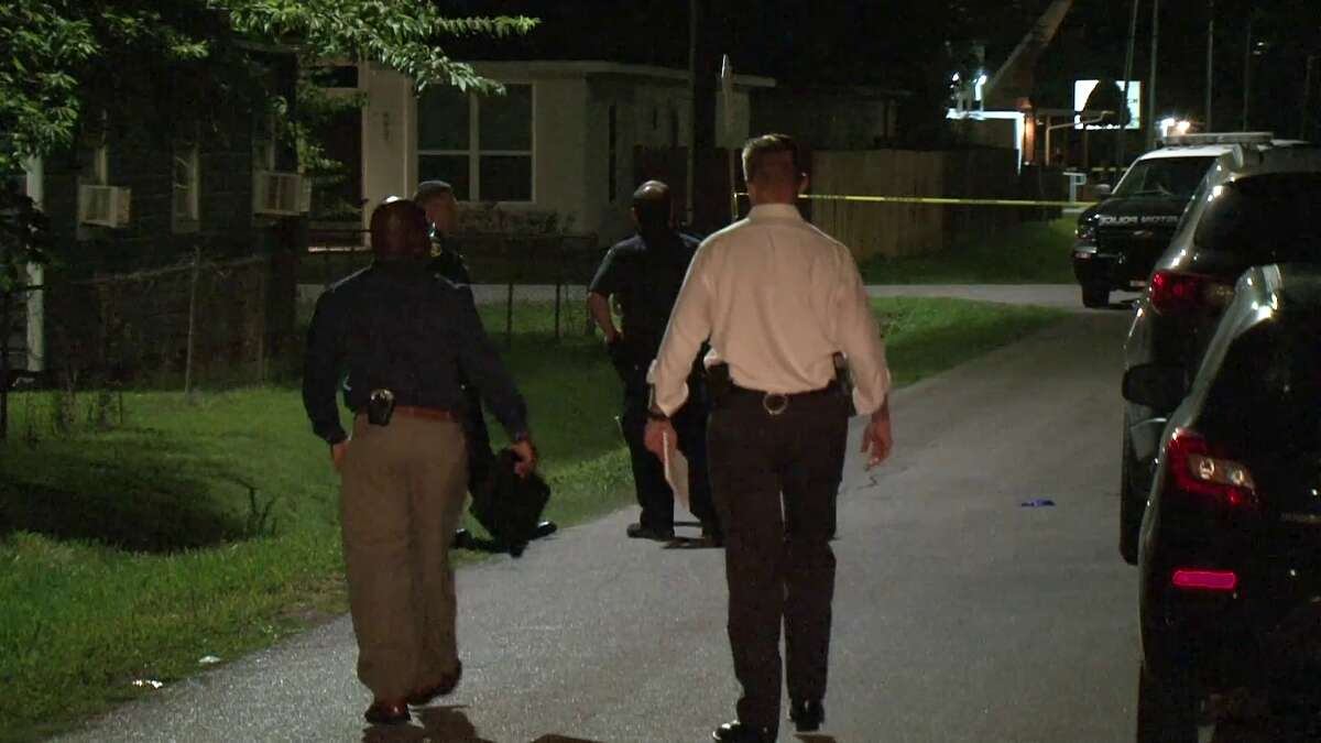 A man was killed and a woman injured in south Houston in what Houston Police suspected was a love triangle shooting.