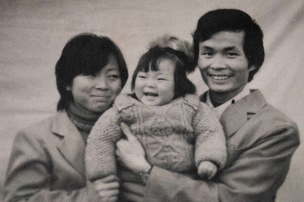 """A photograph of a Chinese family shown in the documentary """"One Child Nation."""""""