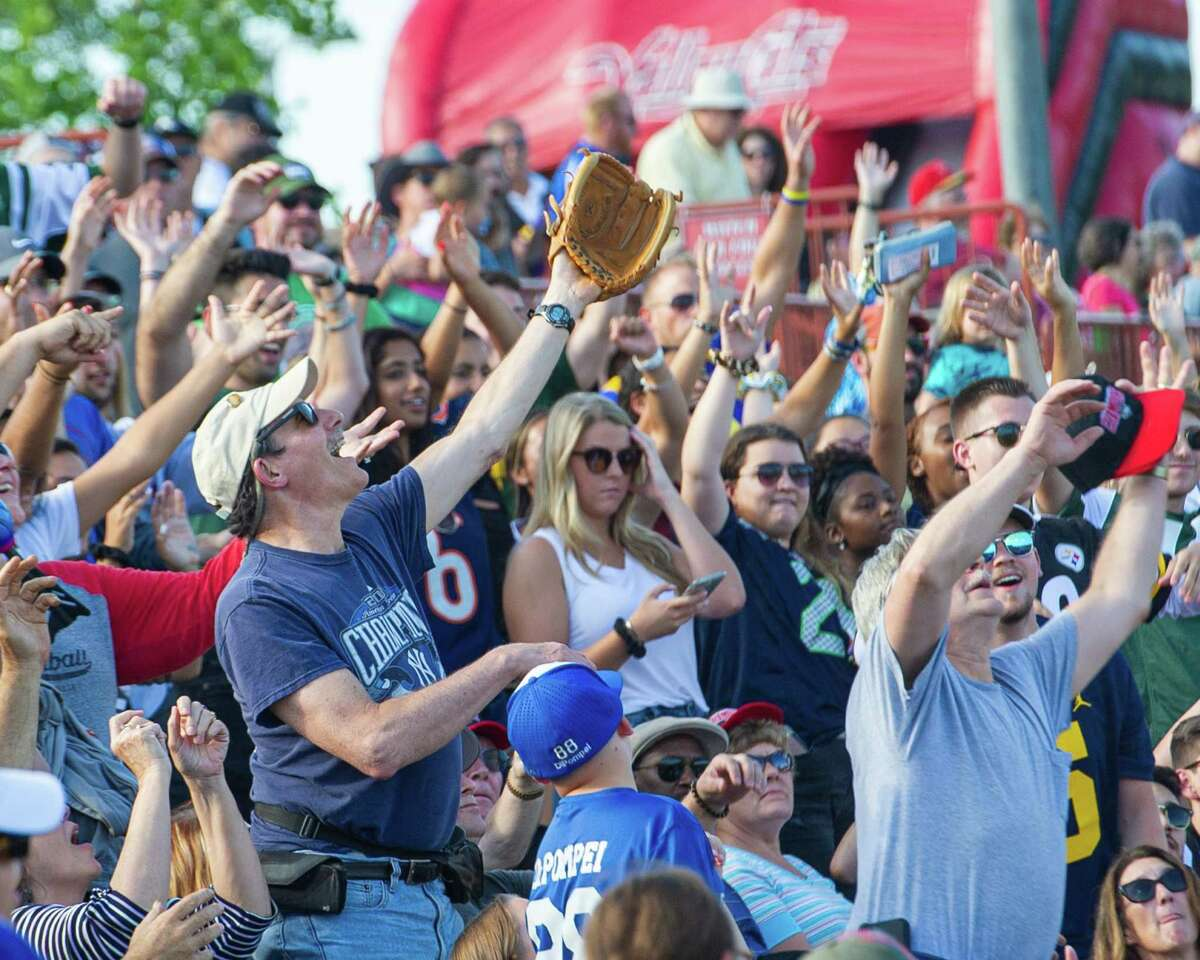 Tri-City ValleyCats fans during a game against the Staten Island Yankees at the Joseph L. Bruno Stadium in Troy, NY on Sunday, Aug. 25, 2019 (Jim Franco/Special to the Times Union.)