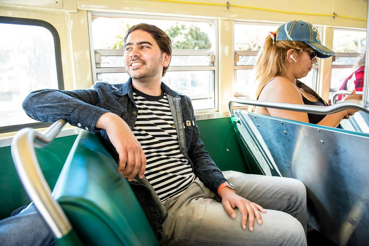 """""""Coming from somewhere with very little transit, where we had one bus and it didn't go anywhere I wanted to go, to where you can go anywhere is kind of life-changing,"""" says Arvin, who moved to SF from New Hampshire seven years ago. """"I want people to be proud of transit, to love our transit."""""""