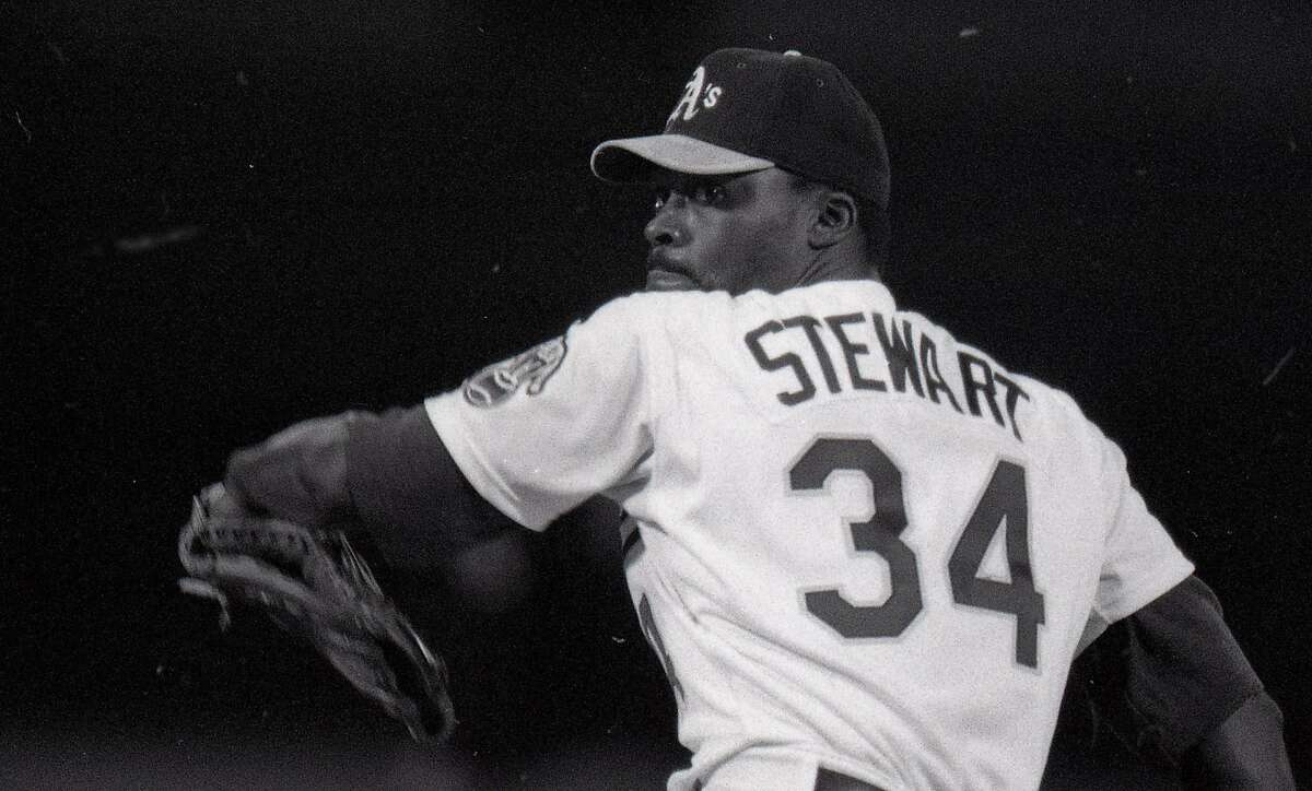 The 1989 Oakland A's home opener included pre-game festivities April 4, 1989 Starting pitcher Dave Stewart