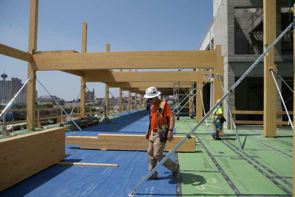 Proponents of the mass timber process used at the Soto believe it is better for the environment because the wood sequesters, or holds, carbon dioxide from the atmosphere, offsetting its effects on climate change.