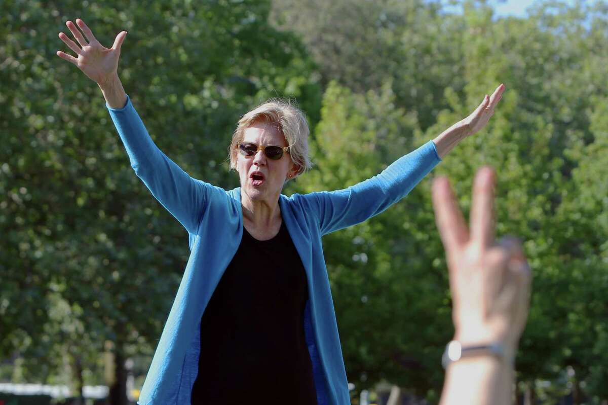 Democratic presidential candidate Senator Elizabeth Warren: She's drawn big crowds in Seattle and other cities, was clear favorite at packed Democrats' debate watch party on Beacon Hill.