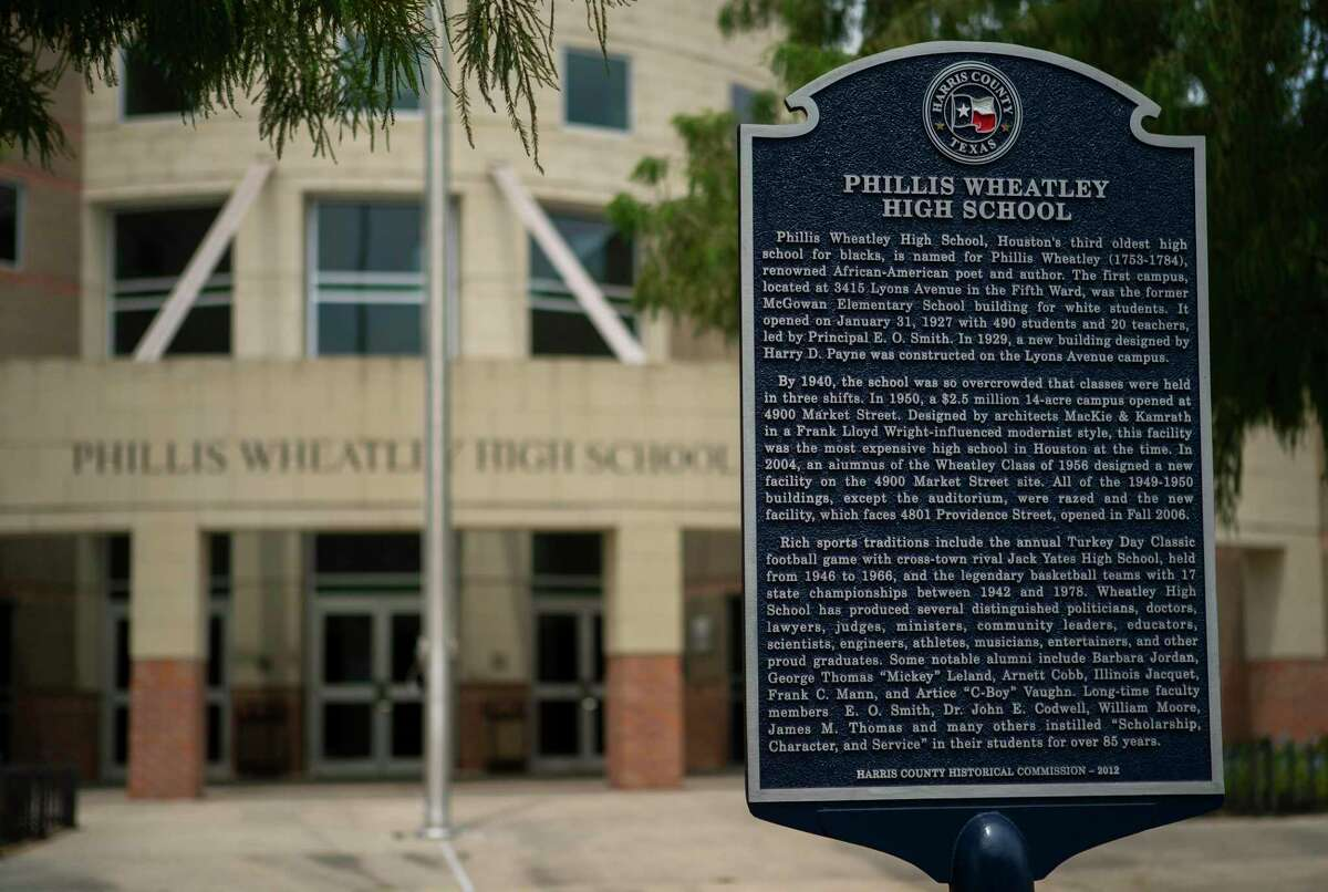 Chronically low performance at Wheatley High School, shown here in August, likely will trigger state sanctions in the coming months after the historic Houston Fifth Ward campus received its seventh consecutive failing grade this year.