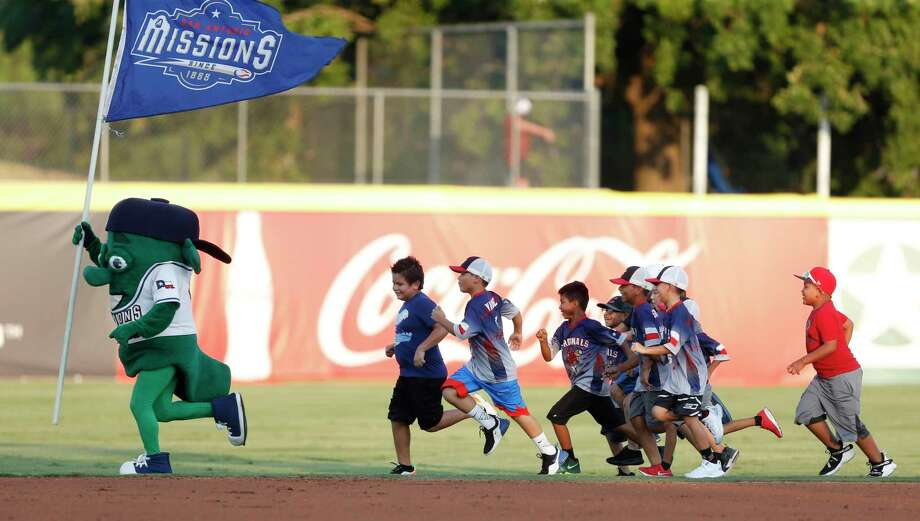 Children at the game had the chance to run on the field between innings. The San Antonio Missions are hosting the Oklahoma City Dodgers Sunday on August 25, 2019 at Wolff Stadium Photo: Ronald Cortes/Contributor / 2019 Ronald Cortes