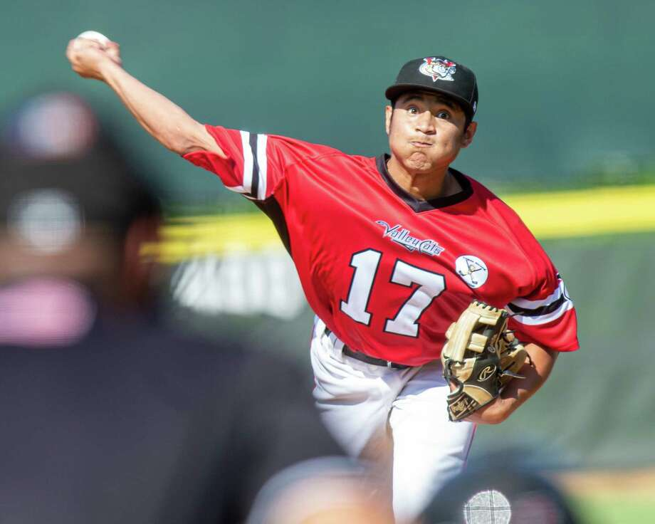 Tri-City Valleycats starting pitcher Jairo Lopez against the Staten Island Yankees at the Joseph L. Bruno Stadium in Troy NY on Sunday, Aug. 25, 2019 (Jim Franco/Special to the Times Union.) Photo: James Franco / 40047208A