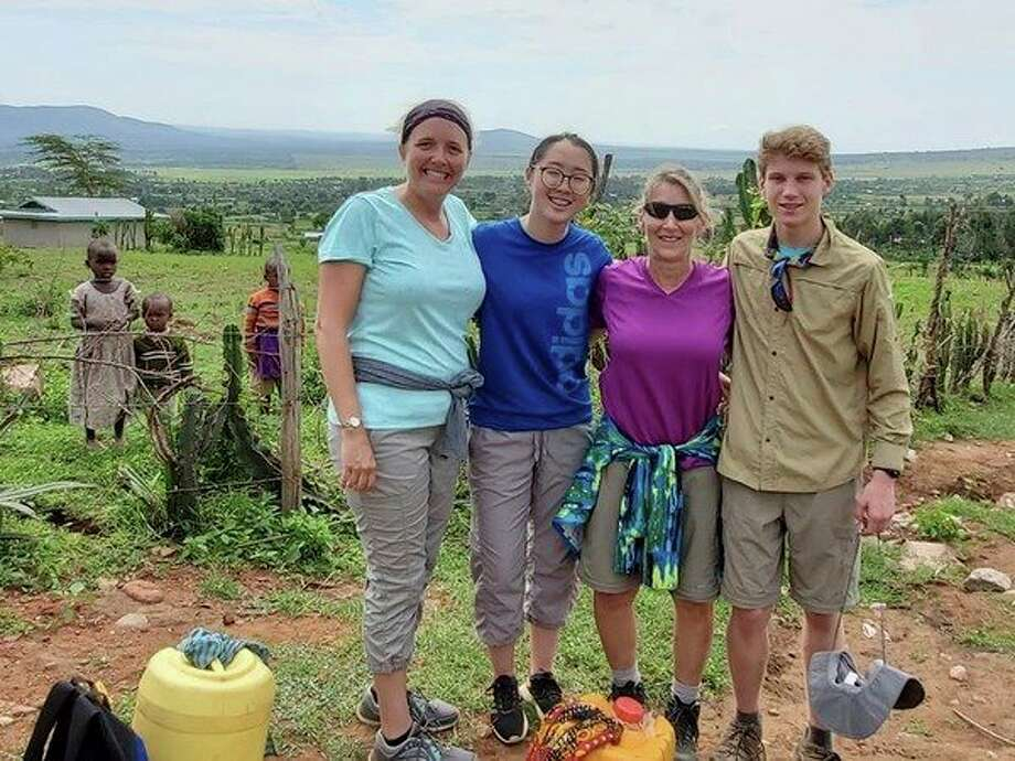 From left, Mary Hillman, Madeleine Hong, Cynthia Roberts and Robert Perry in Kenya. (Photo provided)