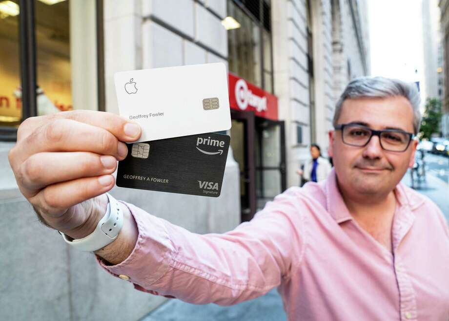 Washington Post tech columnist Geoffrey A. Fowler tracked the same purchase at Target with two kinds of credit cards: the Chase Amazon Prime Rewards Visa and the Apple Card. Photo: Washington Post Photo By James Pace-Cornsilk / The Washington Post