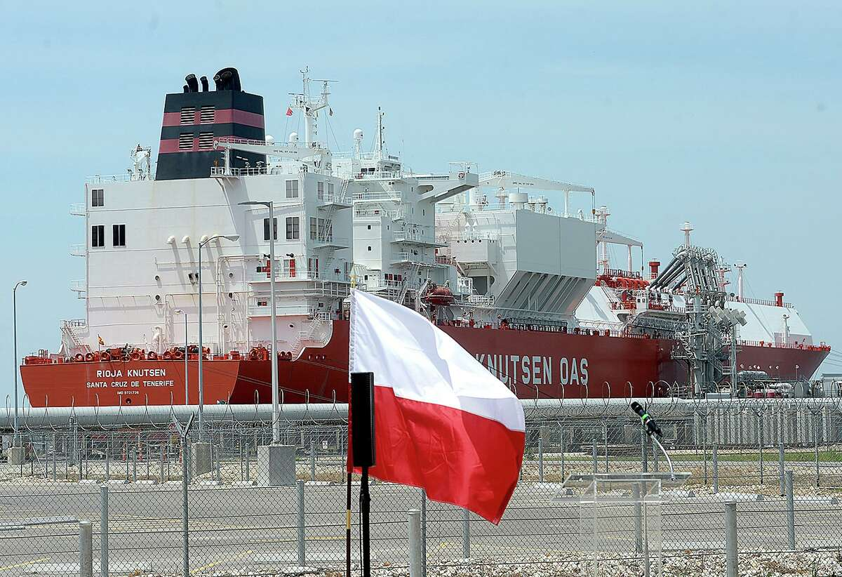 An LNG ship bound for Spain at Cheniere Energy's Sabine Pass LNG facility. Europe could be a growing market for U.S. LNG.
