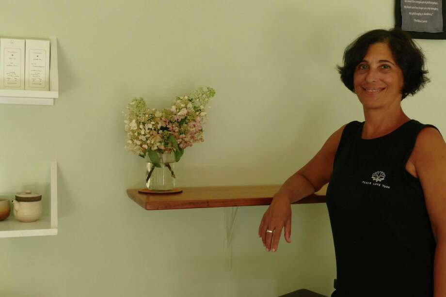 Nancy Volante inside her Imagine Yoga studio on Roberts Lane. Volante teaches restorative and vinyasa yoga. Photo: /