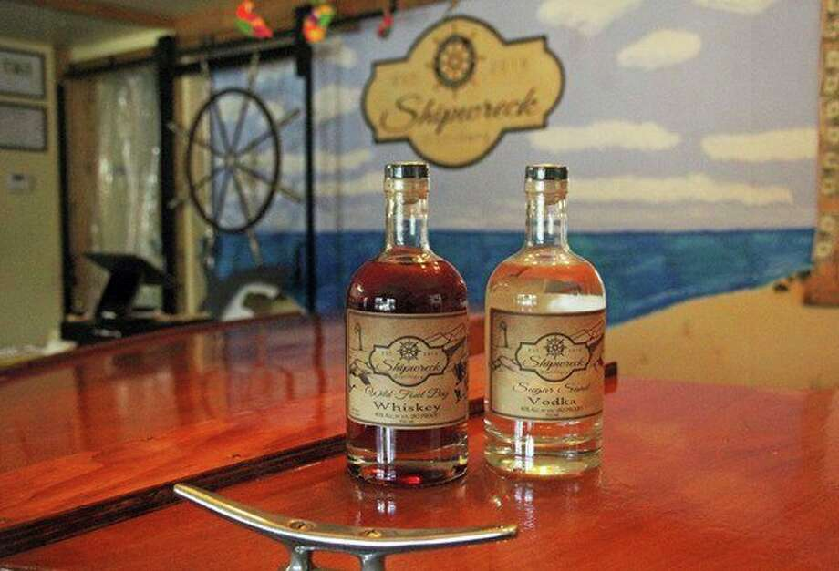 Wild Fowl Bay Whiskey and Sugar Sand Vodka are Shipwreck Distillery's top sellers. (Seth Stapleton/Huron Daily Tribune)