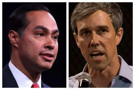 Julian Castro (left) and Beto O'Rourke (right) are the two Texans running for the Democratic presidential nomination. Photos by Josh Edelson and Mark Ralston, AFP/Getty Images.