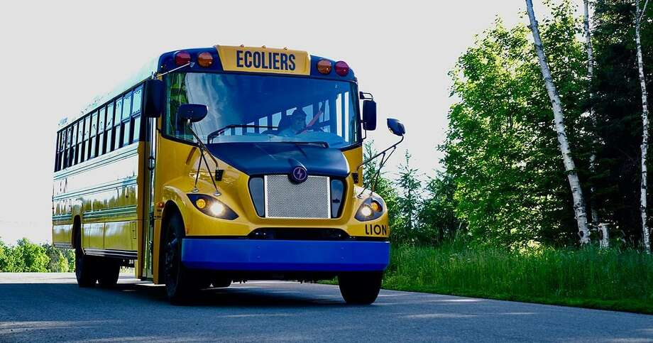 White Plains, N.Y., bought a fleet of these zero-emission school buses. Photo: Lion Photo