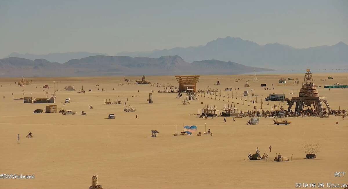 Burning Man's 2019 live webcam captures the scene on the Playa in Nevada's Black Rock Desert. Check out the live stream on the Burning Man website.