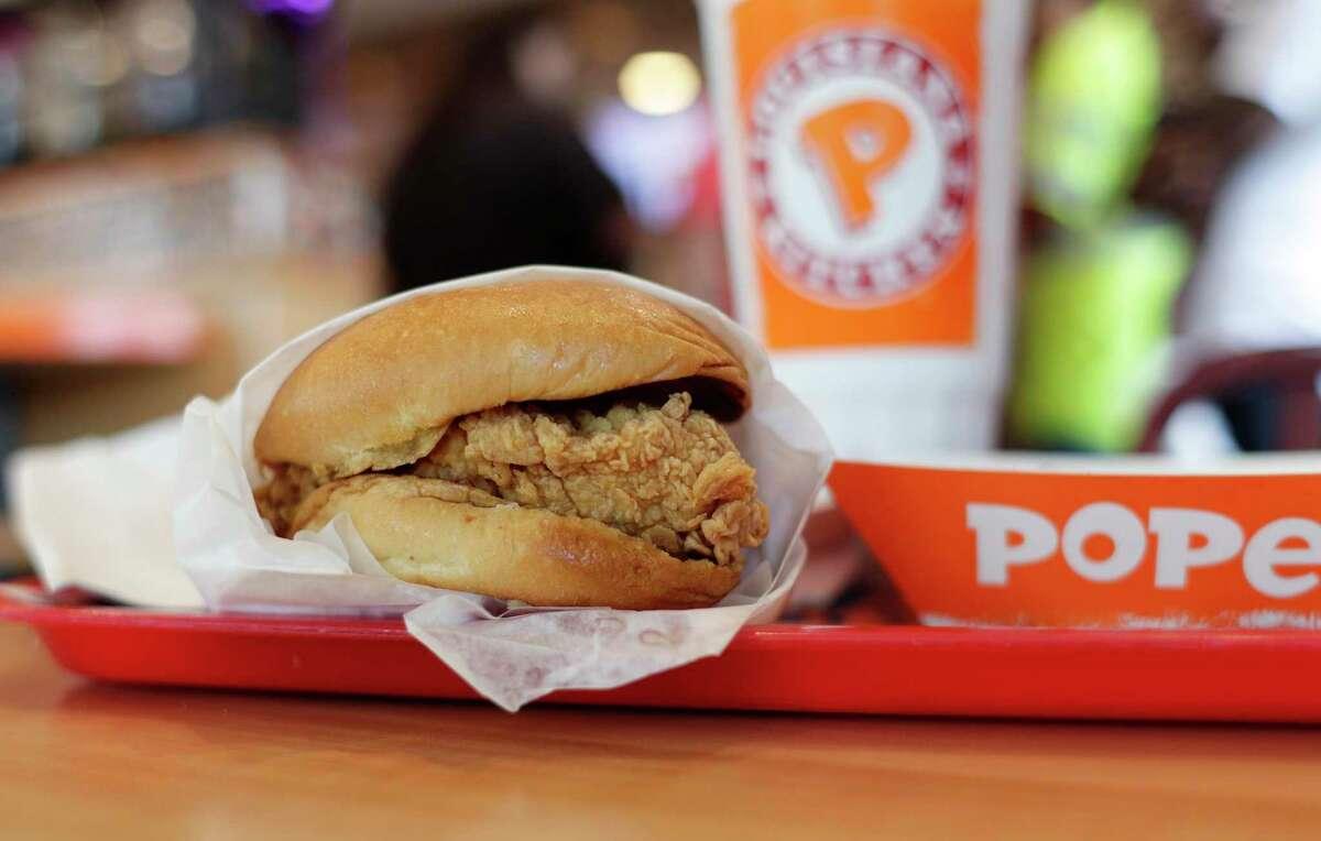 Popeyes Chicken Sandwich Calories: 690 Fat: 42 grams