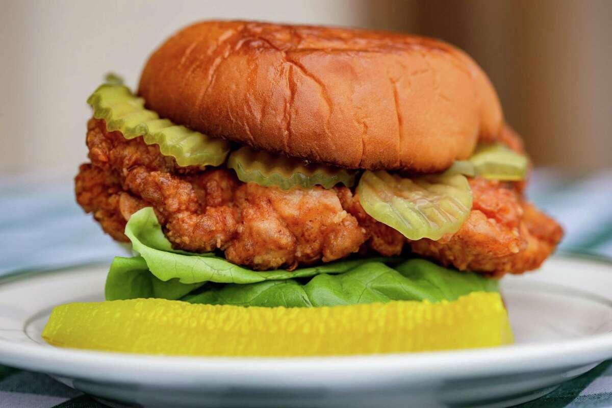 Fried chicken sandwich at B.B. Lemon.