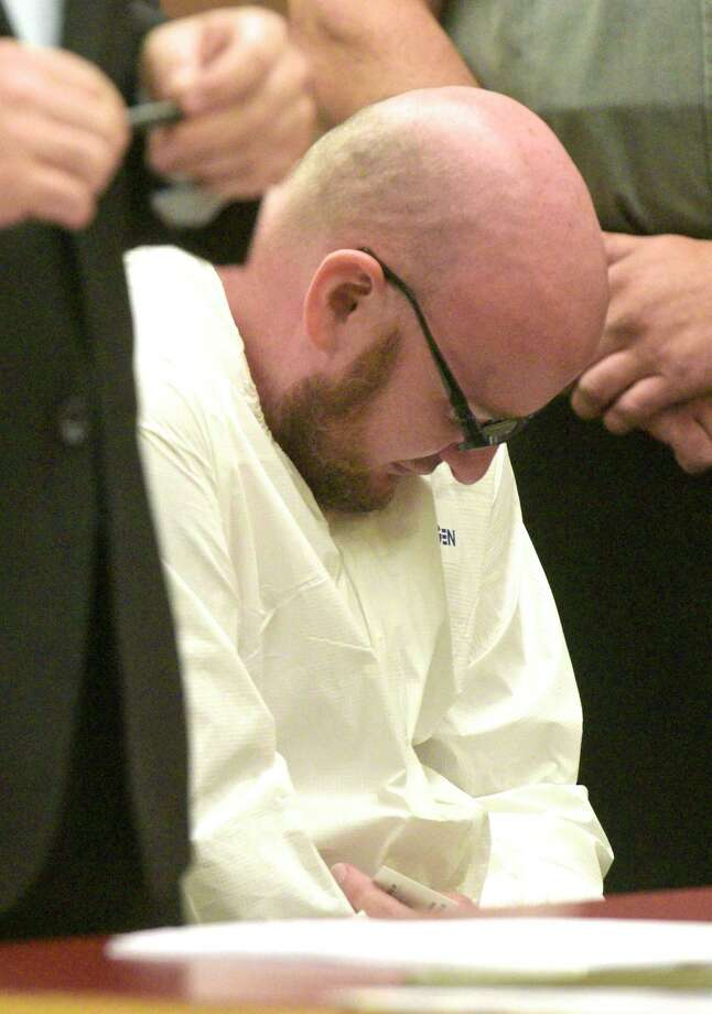 David MacDowell, 34, of Bethel, was arraigned on manslaughter in the first degree charges at Danbury Superior Court on Monday, August 26, 2019, in Danbury, Conn. Photo: H John Voorhees III / Hearst Connecticut Media / The News-Times