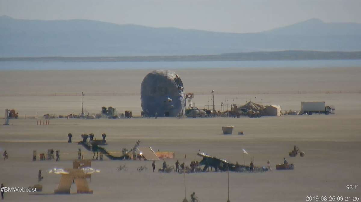 Burning Man's 2019 live webcam captures the scene on the Playa in Nevada's Black Rock Desert. Check out the live stream on theBurning Man website.