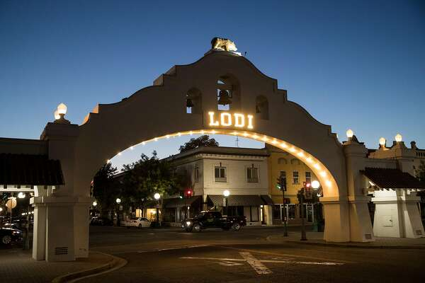 The Lodi Arch is seen in downtown Lodi, Calif., on Friday, August 16, 2019. The arch, built in 1907 by architect E. B. Brown for the first Lodi Tokay Carnival, is one of the few remaining Mission Revival ceremonial structures within the state of California.