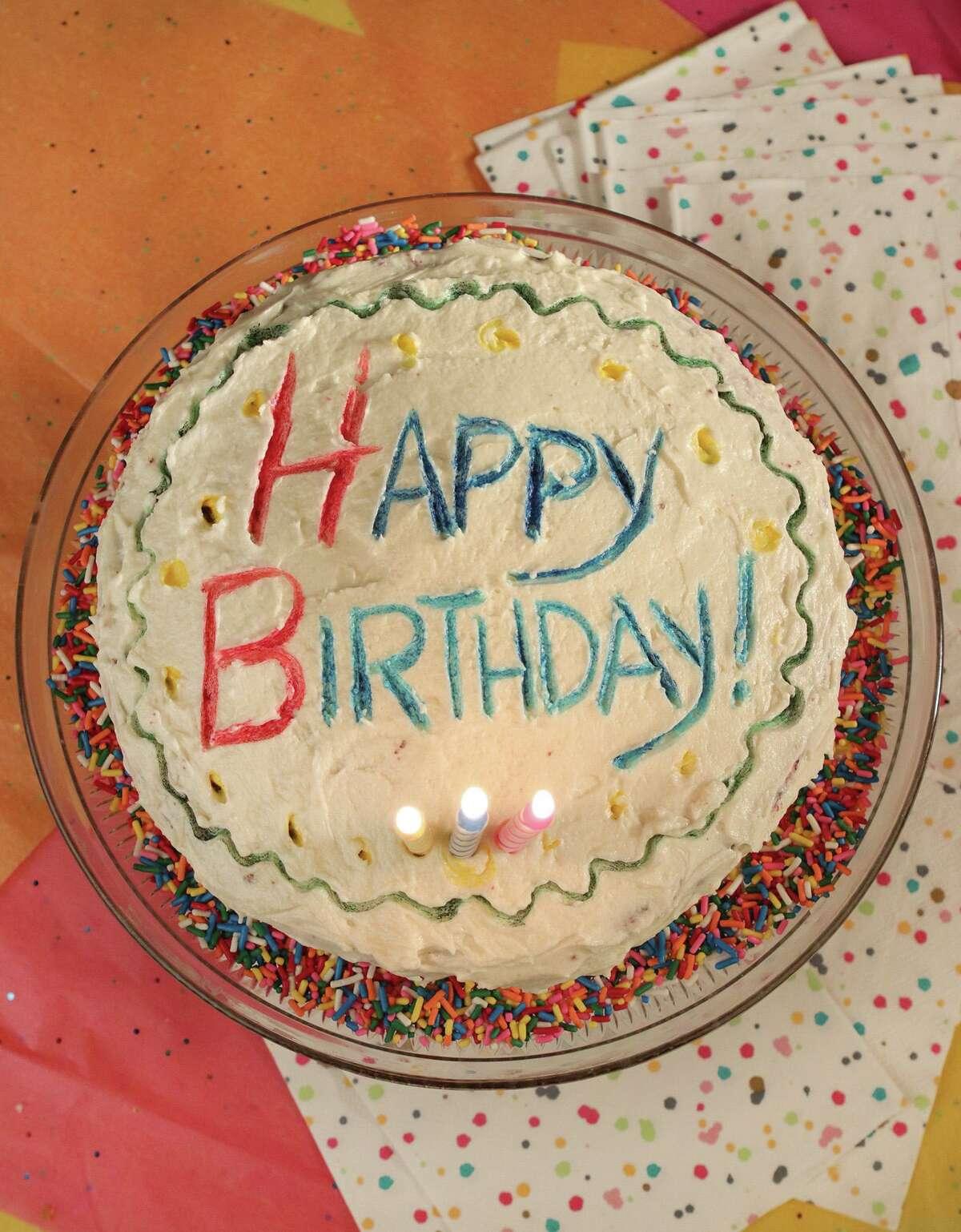 A red velvet birthday cake.