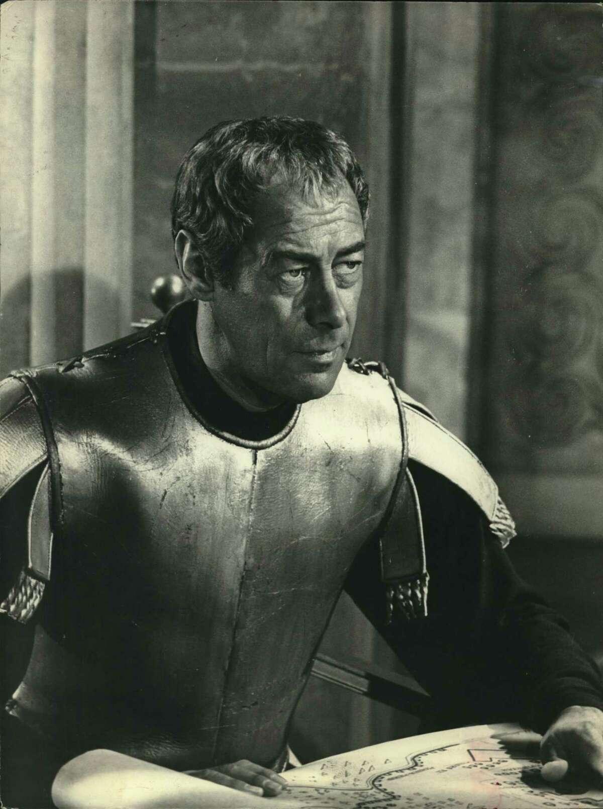 Rex Harrison as Julius Caesar in a scene from
