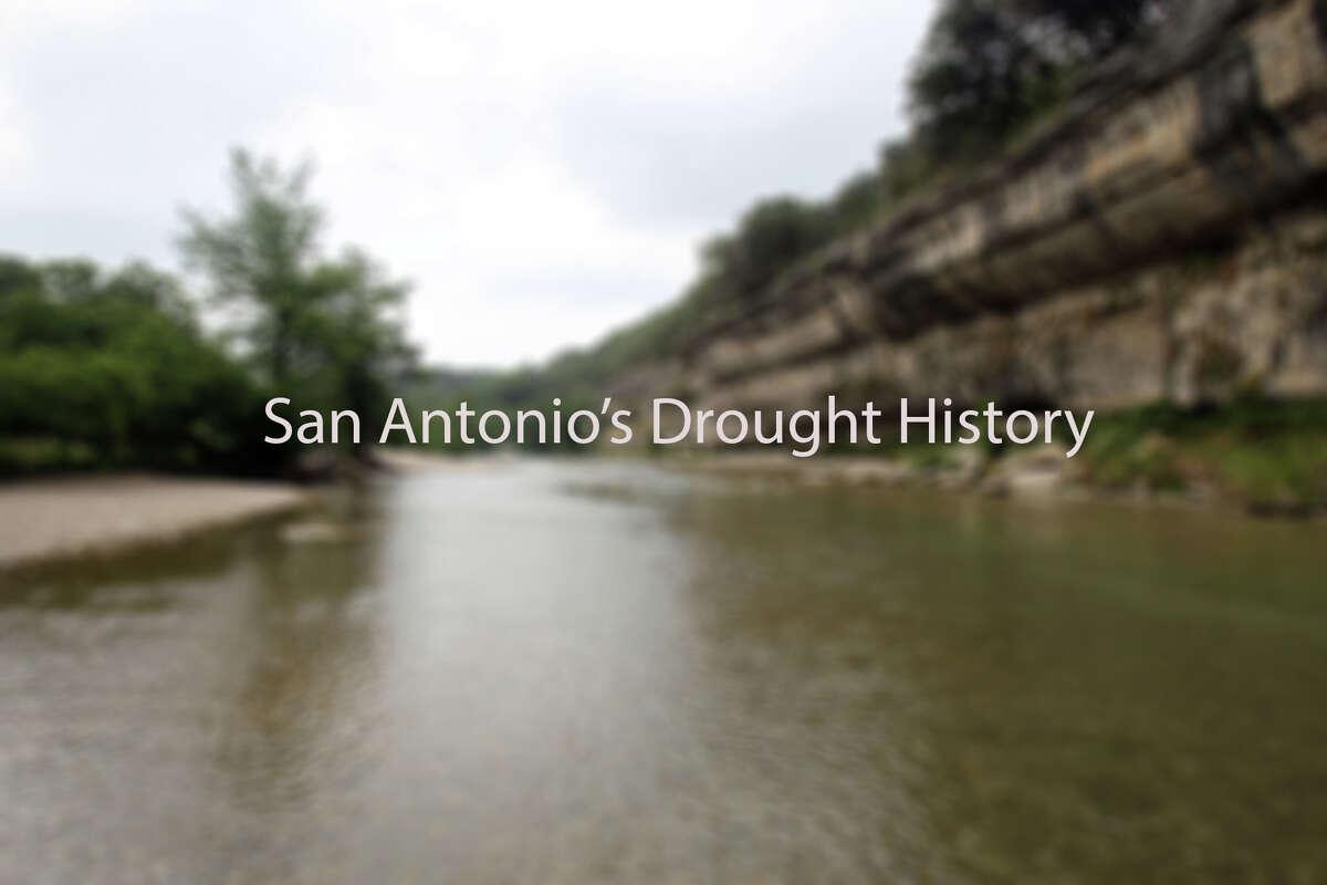 A look at San Antonio's drought hisory.