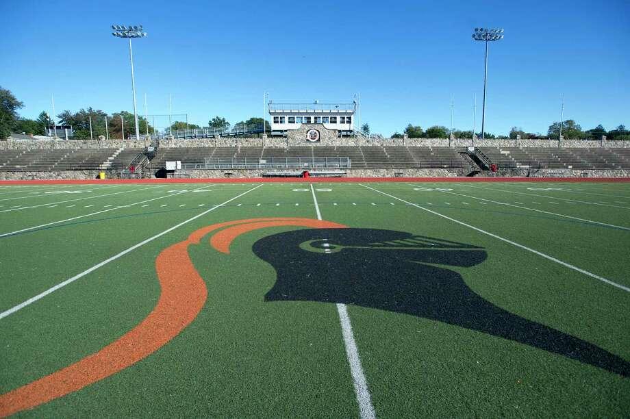 Stamford High School's Boyle Stadium on Thursday, Oct. 18, 2018. Photo: Michael Cummo / Hearst Connecticut Media / Stamford Advocate