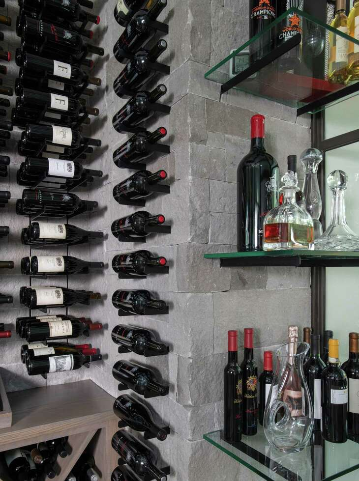 The wine room in the Kellers' home, built by Frankel Building Group.