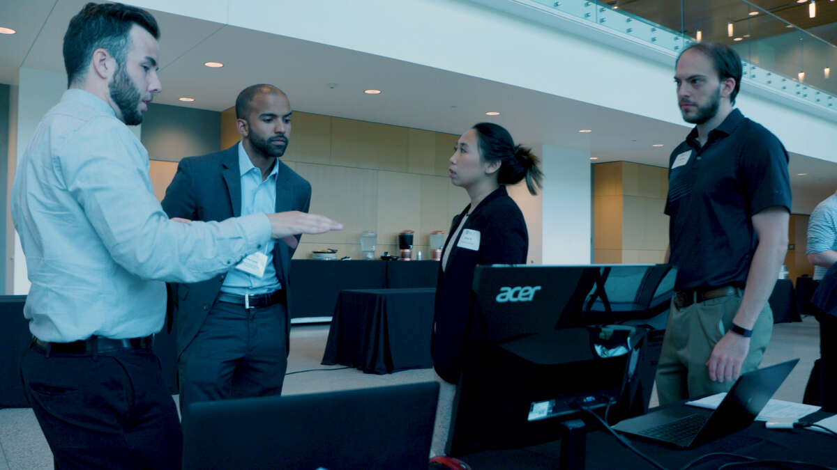 Students demonstrate projects created during the Rice University Data Analytics Boot Camp.