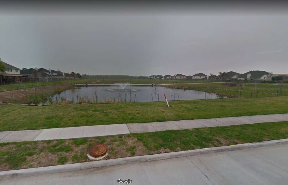 This seemingly peaceful pond in the 3800 block of Drifwood in La Porte's Fairmont Park East was reportedly the scene of ongoing avian aggressiveness Monday after a goose repeatedly stalked passersby before city animal control authorities safely removed it. The bird's mate, which didn't threaten anyone, was still on the lam Monday afternoon. Photo: Google Maps