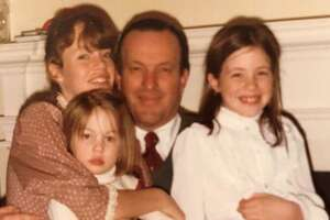Cheever Tyler, shown with his daughters, from left, Haven, Sara and Katherine in about 1980,helped save the financially troubled Shubert Center for the Performing Arts in the 1980s and served as a civic cheerleader for New Haven. He died Friday at 81.