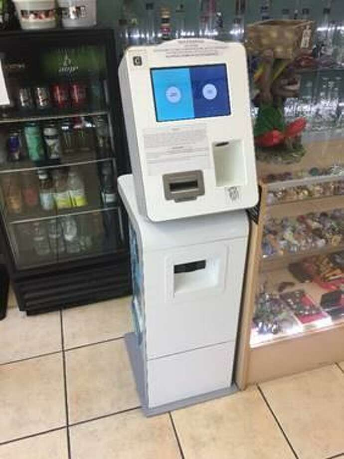 An ATM kiosk is seen at a Los Angeles store in this undated courtesy photo provided Monday by the U.S. Attorney's Office. Kunal Kalra, who has agreed to plead guilty to money laundering and other charges in connection to a national opioid ring once based in San Antonio, had this machine at his convenience store where he also ran a money-remitting business. Drug dealers could use the machine to exchange virtual currency for real cash and vice versa, court documents show. Photo: U.S. Attorney's Office /Courtesy / Public Domain