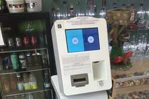 An ATM kiosk is seen at a Los Angeles store in this undated courtesy photo provided Monday by the U.S. Attorney's Office. Kunal Kalra, who has agreed to plead guilty to money laundering and other charges in connection to a national opioid ring once based in San Antonio, had this machine at his convenience store where he also ran a money-remitting business. Drug dealers could use the machine to exchange virtual currency for real cash and vice versa, court documents show.