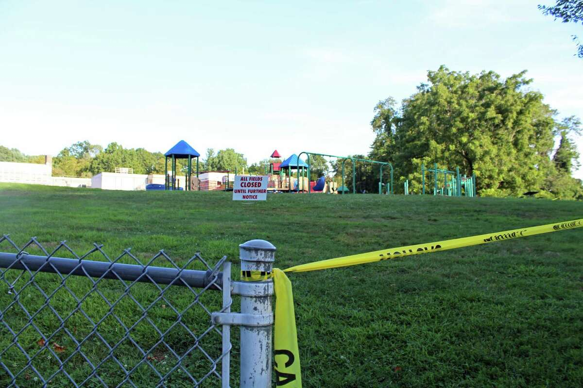The playground at Mill Hill Elementary School, which is closed along with all other schools' playscapes.