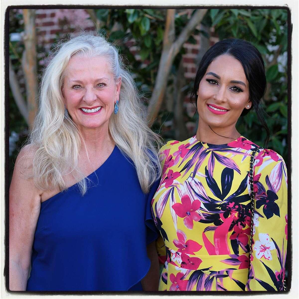Napa vintner Beth Nickel (left) and Nikki Bella at the V Foundation Wine Celebration. August 2019.