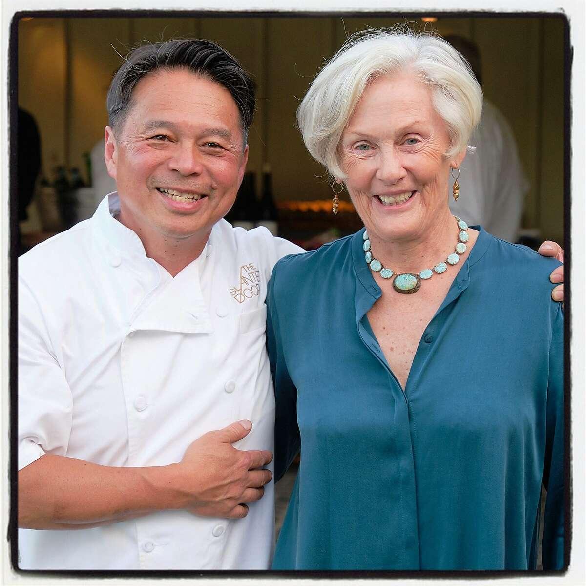 Chef Charles Phan and Napa vintner Ann Grace at the V Foundation Wine Celebration. August 2029.