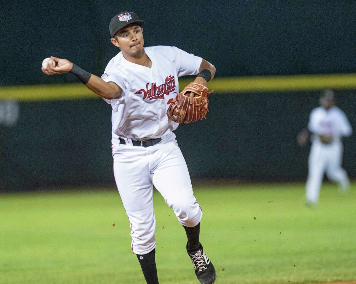 Tri-City ValleyCats shortstop Bryan Arias makes a play during a game against the Staten Island Yankees at the Joseph L. Bruno Stadium in Troy NY on Monday, Aug. 26, 2019 (Jim Franco/Special to the Times Union.)