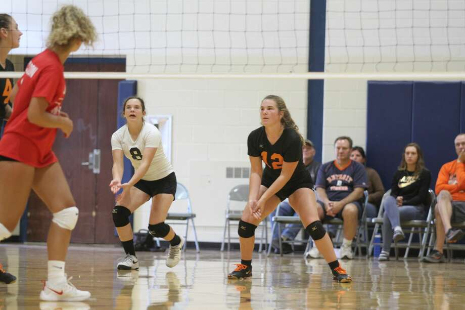 Several teams participated in the Hatchet Invitational volleyball tournament Aug. 24 in Bad Axe. Photo: Eric Rutter/Huron Daily Tribune