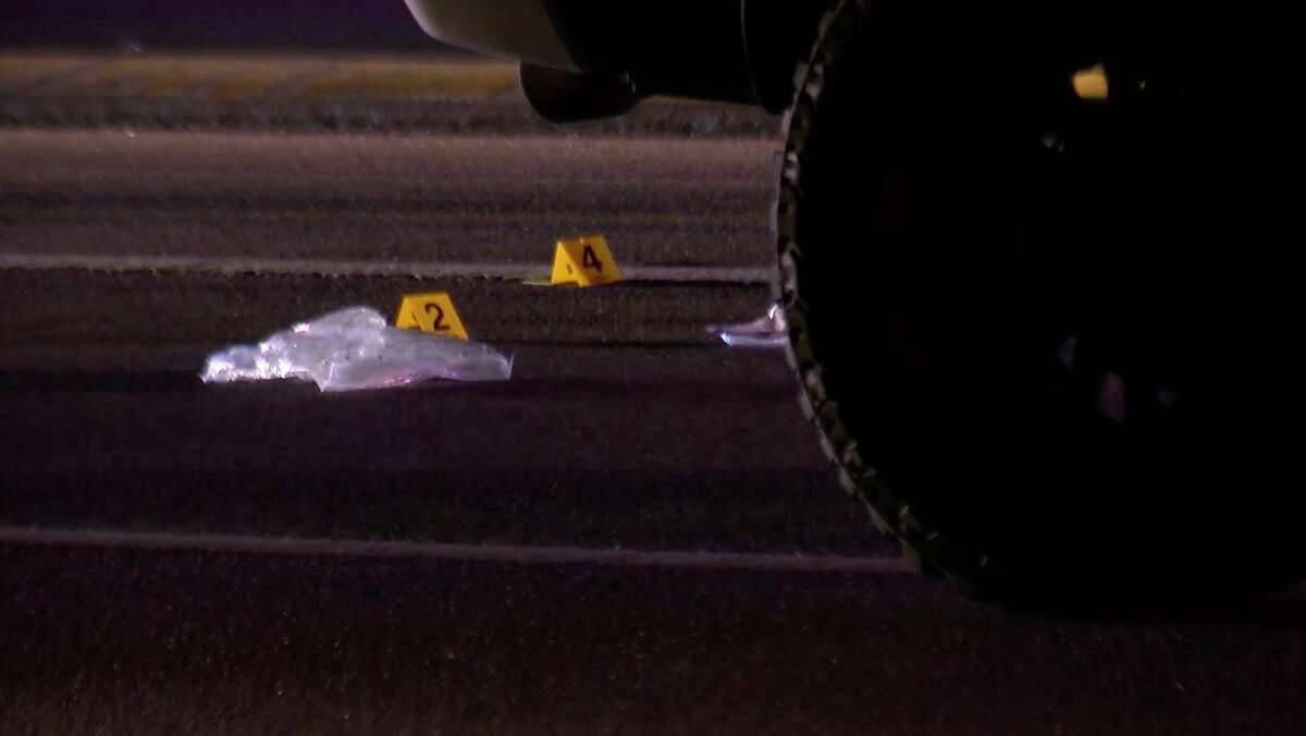 Harris County Sheriff's Office deputies investigate a deadly shooting on Texas Highway 6 atForest Trails on Tuesday, Aug. 27, 2019.