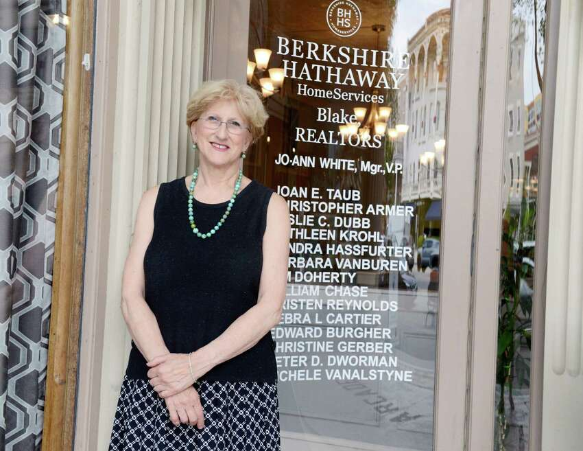 Joan Taub poses for a portrait at Berkshire Hathaway HomeServices on Tuesday, July 16, 2019, in Saratoga Springs, N.Y. (Catherine Rafferty/Times Union)
