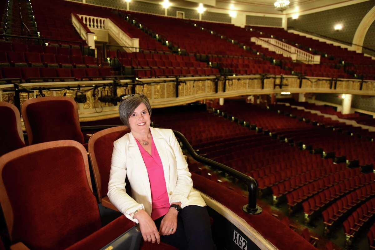 Jean Leonard, chief of staff for Proctors, is pictured at the historic theater on Friday, July 19, 2019, in Schenectady N.Y. (Will Waldron/Times Union)