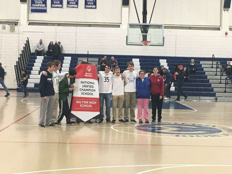 Wilton High School has been recognized as a National Banner Unified Champion School. Photo: Contributed Photo / Wilton High School