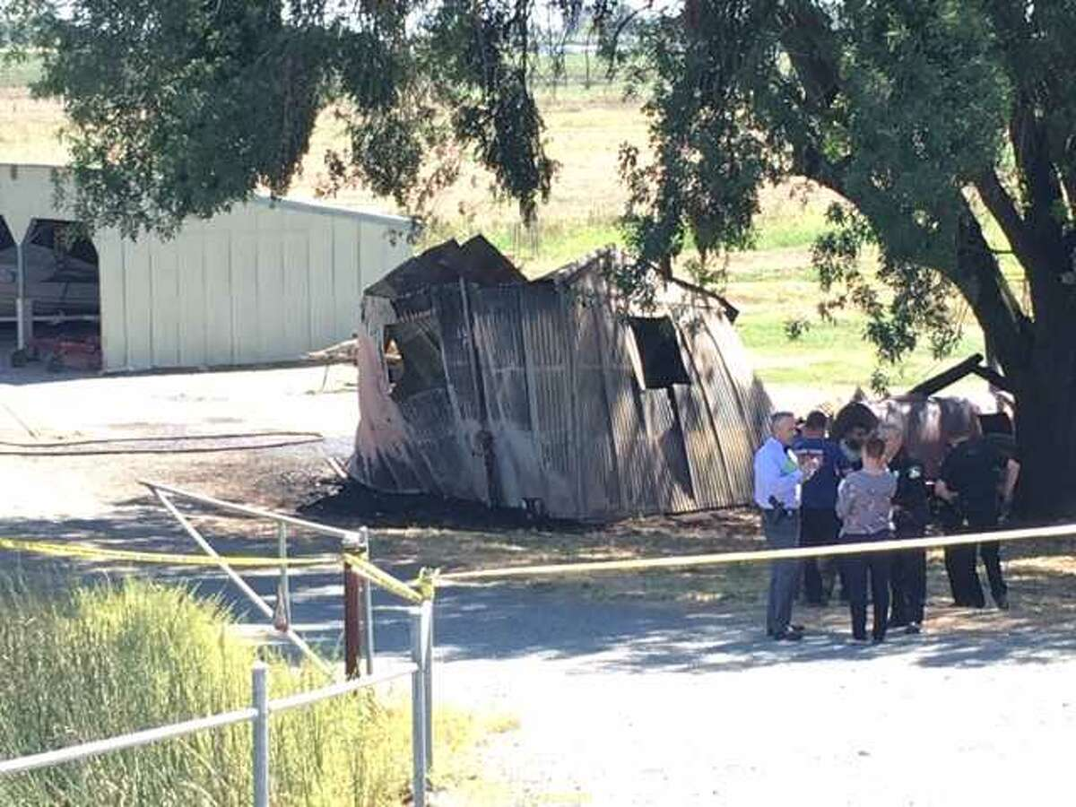 A man was found burned to death on a property in Isleton, California.