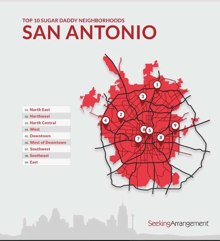 Areas of San Antonio with the most sugar daddies Photo: SeekingArrangment