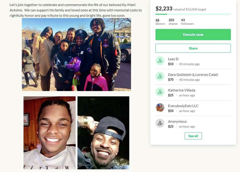A GoFundMe was made for Ky-Mani Pollack, 19, one of the victims from Monday's fatal car crash in the South End. The proceeds from the fund will be to help Pollack's family and loved ones with memorial costs, according to the site. Photo: Humberto J. Rocha / Hearst Connecticut Media / New Canaan News