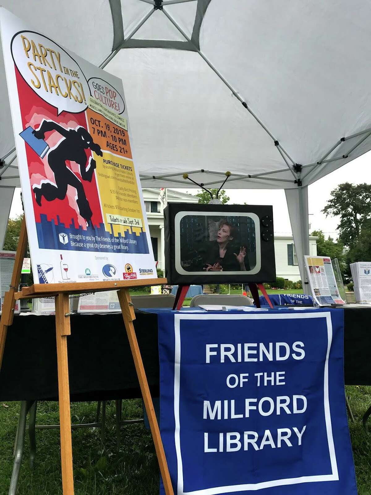 Friends of the Milford Library will host their fourth annual Party in the Stacks fund-raiser on Oct. 19, at the library.